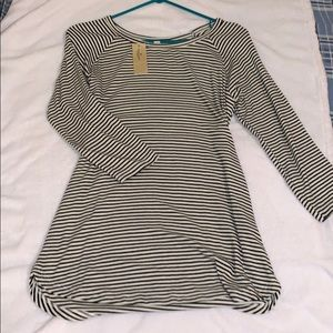 American eagle striped quarter sleeve shirt